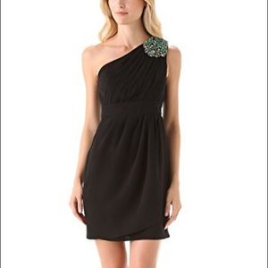 Black Shoshanna one shoulder dress Sz 0